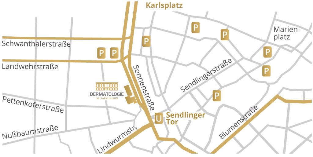 Dermatologie im Isarklinikum München - Parken, Anfahrt